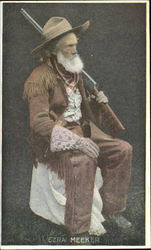 Ezra Meeker Backskin Suit with Gun