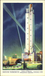 Havoline Thermometer A Century of Progress International Exposition 1933 Postcard