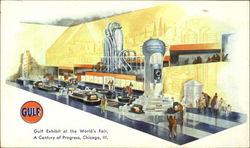 Gulf Exhibit At The World's Fair, A Century Of Progress Postcard