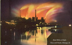 Steel Mills At Night, Gary and South
