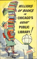 Millions Of Books In Chicago's Great Public! Postcard