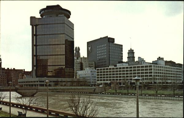 Across the River from First Federal Plaza and the Americana Hotel Rochester New York