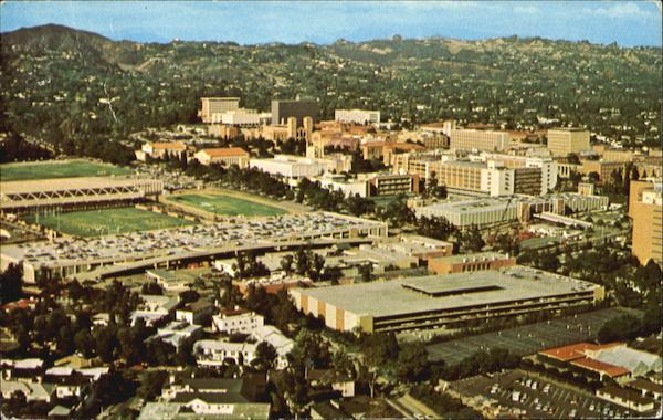 Aerial View of U.C.L.A Los Angeles California