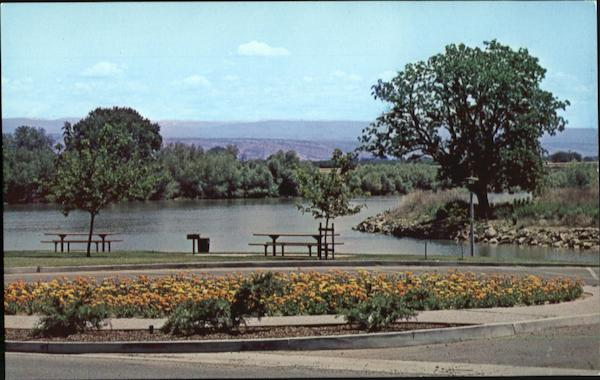 City Park Along the Sacramento River Red Bluff California