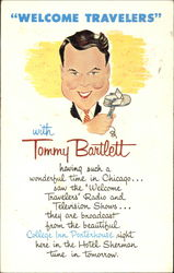 Welcome Travellers with Tony Bartlett Postcard