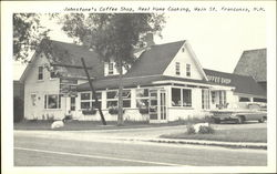 Johnstone's Coffee Shop, Real Home Cooking, Main St. Franconia, N.H