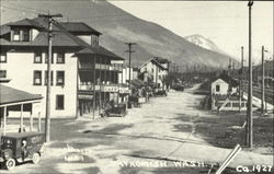 Skykomish's main street by Lee Pickett 1889