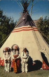 Indian Braves and Tepee