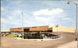 Front view of the Houston Internaional Airport Postcard