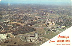 University of West Virginia - Aerial View of New Campus