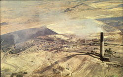 Aerial View of the Anaconda Company's Smelter and Stack
