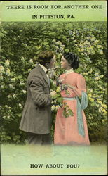 Couple in Pittson Postcard