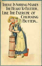 Couple Churning Butter