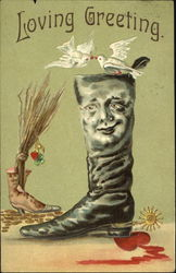 Man's Face on a Boot