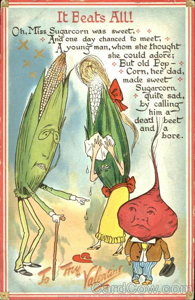 Lady Corn Crying Because Father Corn Is Making Beet Sad
