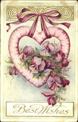 Hanging Heart with Flowers Entwined on it