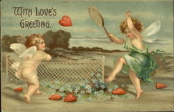 Angels Playing Tennis