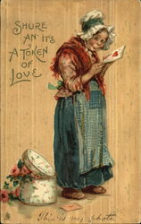 Haggard Woman Reading a Valentine's Card