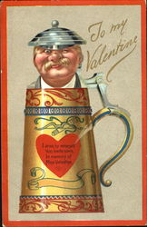 Moustached Man in Beer Stein