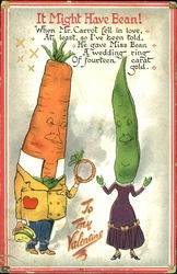 Carrot dressed in Men's Clothing and Bean Dressed in Women's Clothes