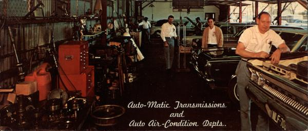 View of the Auto-Matic Transmissions & Auto Air-Condition Depts Houston Texas