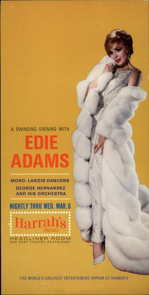 A Swinging Evening with Edie Adams Reno Nevada Celebrities