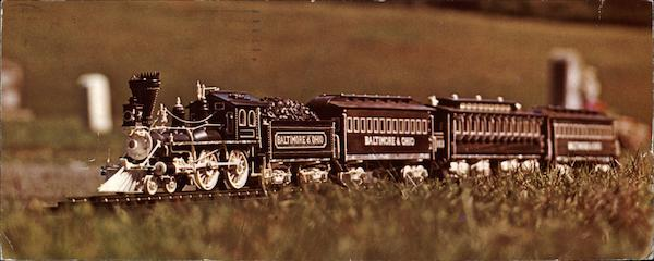 The Lincoln Funeral Train carved by Ernest Warther Dover Ohio