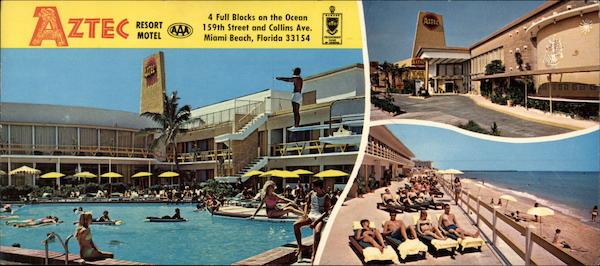 Aztec Resort Motel Miami Beach Fl