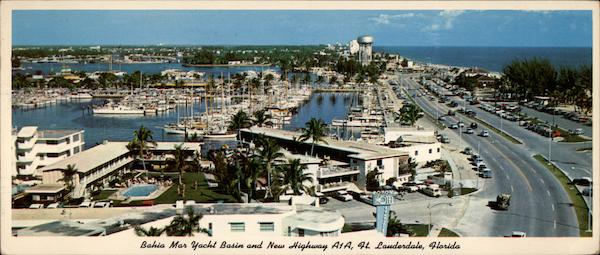 Bahia Mar Yacht Basin and New Highway A1A Fort Lauderdale Florida