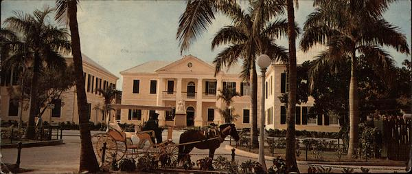Government Buildings with the Post Office in the Center Nassau Bahamas