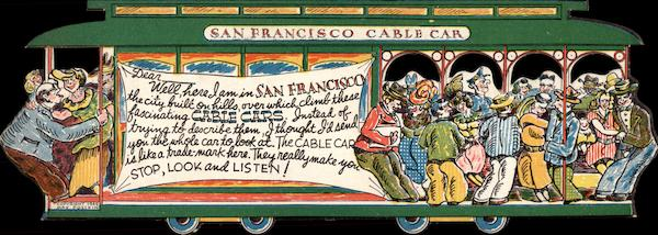 San Francisco Cable Car California Die Cut