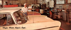 Vance & Sons Major Motor Repair Department Large Format Postcard