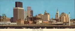 Dallas Skyline, hub of business activity for the entire Southwest Large Format Postcard