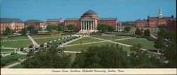 Campus Scene, Southern Methodist University Large Format Postcard
