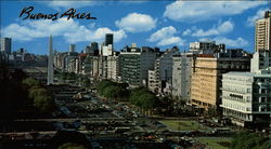 Panoramic view of Buenos Aires Large Format Postcard