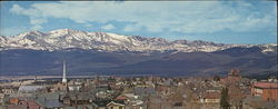 Mount Massive Over Leadville Large Format Postcard
