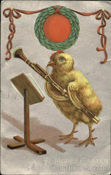 A chick playing an instrument With Chicks