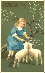Girls with Lambs