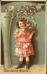 Young Girl with Easter Egg Basket