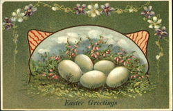 Eggs with Pink Flowers
