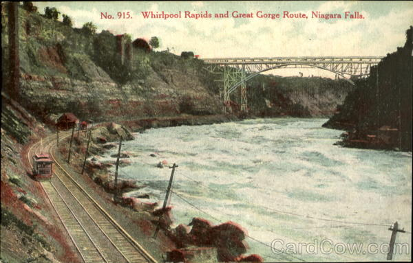 Whirlpool Rapids and Great Gorge Route Niagara Falls Canada