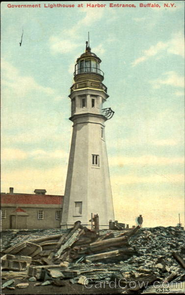 Government Lighthouse at Harbor Engrance Buffalo New York