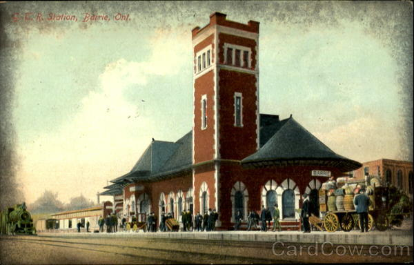 G.T.R. Station, Barrie, Ont Canada Ontario