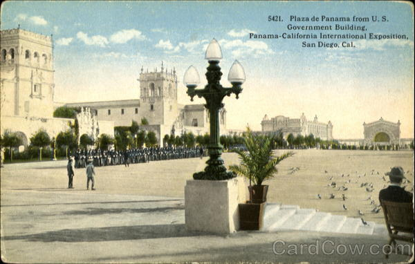 5421. Plaza del Panama from U. S. Government Building, Panama-California International Exposition San Diego