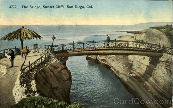 4732. The Bridge, Sunset Cliffs, San Diego, Calif California