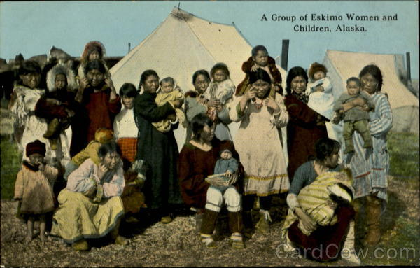 Eskimo Women and Children Native Americana