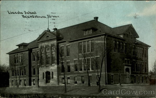 Lincoln School Beardstown, Ill Illinois