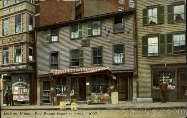 Boston, Mass. Paul Revere House as it was in 1907 Massachusetts