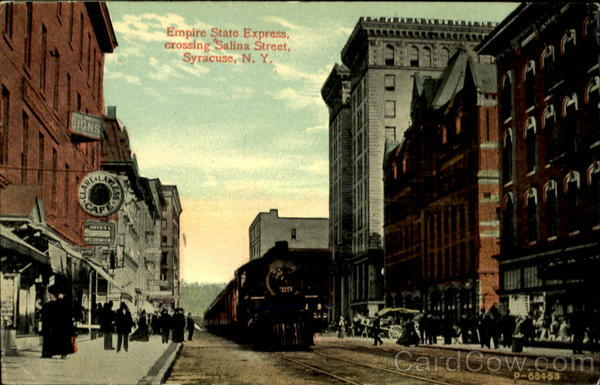 Empire State Express crossing Salina Street Syracuse New York