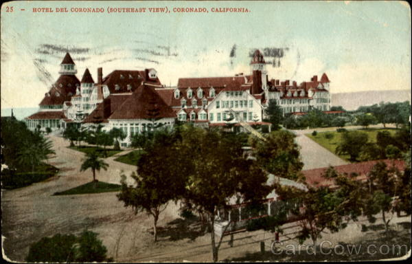 Hotel del Coronado (Southeast View) California